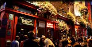 templebar night dublin nightlife on Luxury Hotels Ireland