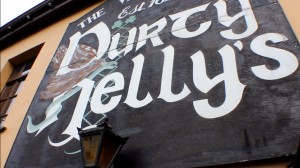 Durty Nellys sign on luxury hotels ireland